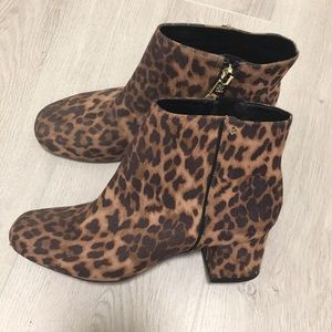 Sam & Libby cheetah print ankle boots size 8.5 NWT